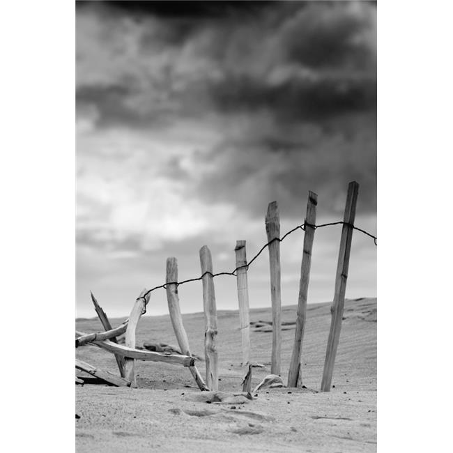 Posterazzi DPI1833371LARGE Broken Fence in Dune South Shields Tyne & Wear England Europe Poster Print, Large - 22 x 34 - image 1 de 1