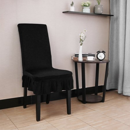Spandex Stretch Washable Kitchen Stool Chair Cover Protector Slipcovers Black - image 1 of 7