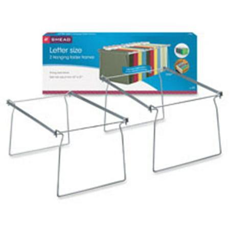Hanging Folder Frame, Letter, 2-PK, Steel, Gray Hanging Framed Letter