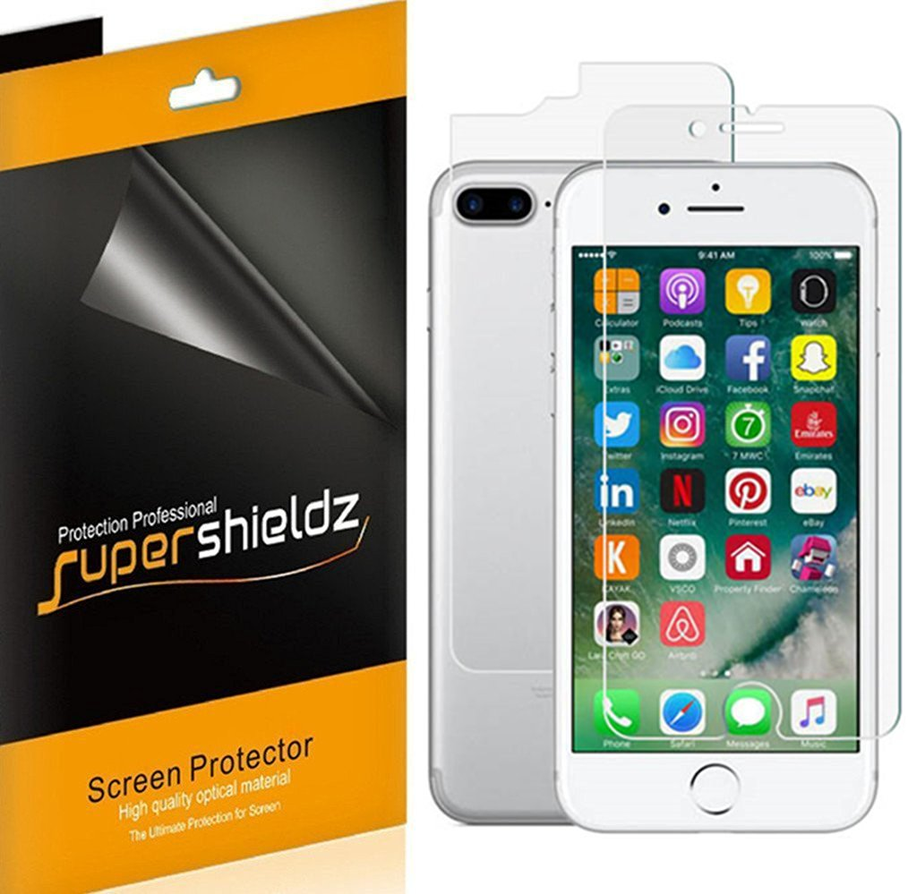 [3 Front & 3 Back] Supershieldz iPhone 7 Plus [Front + Back] Full Body Anti-Glare & Anti-Fingerprint (Matte) Screen Protector