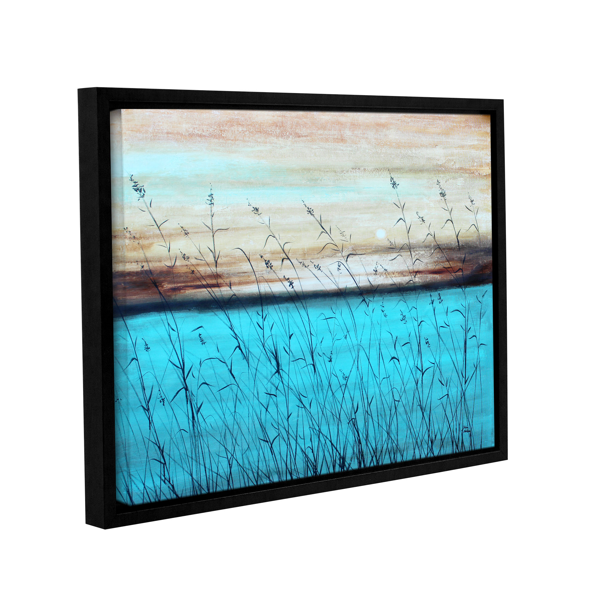 Dawn (brighter one)' Gallery Wrapped Floater-framed Canvas Art Print