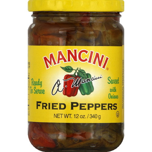 Mancini Fried Sweet Peppers With Onions, 12 oz (Pack of 6)