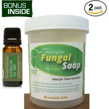 Bonus Inside! Fungal Soap + 10ml Bottle Aussie Tea Tree Oil - Special 2
