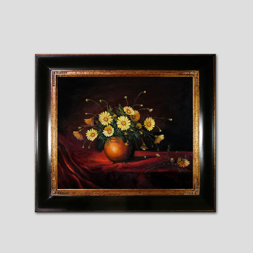 Tori Home Daisies in a Bowl by Martin Johnson Heade Framed Painting Print