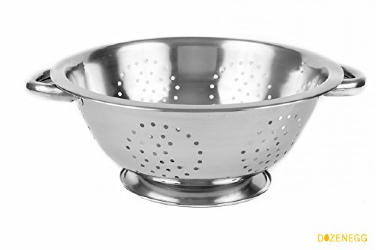 Click here to buy Dozenegg Stainless Steel Strainer Colander by DOZENEGG.
