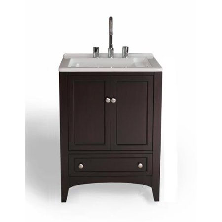 Stufurhome Gm Y01e 24 Espresso Solid Wood Laundry Utility Sink Bath
