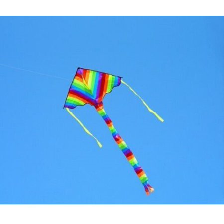 Rainbow Color Triangle Kite Outdoor Children Fun Sports Kids Toys Gift Air Fly](Kites Are Fun)
