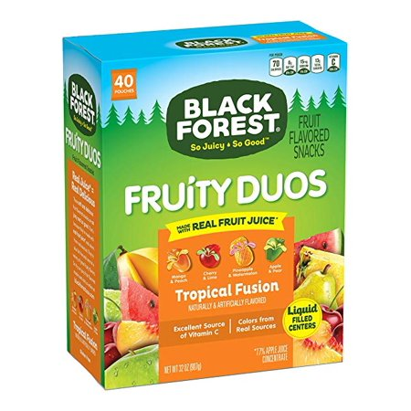 Black Forest Fruity Duos Fruit Snacks, 0.8 Ounce Bag, Pack of 40 - Halloween Fruit Snacks