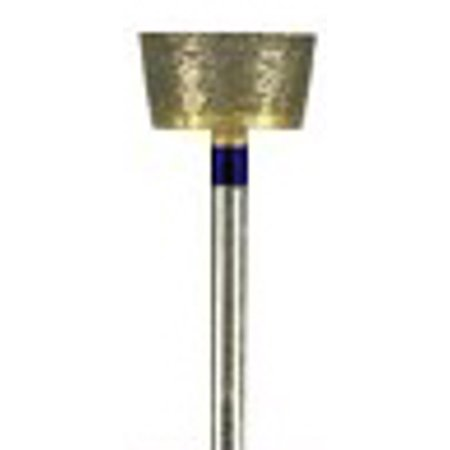 DIAMOND BUR, SINTERED, Medium 240 grit 2.34mm mandrel(hp)Inverted cone, flat top 5.5x6mm