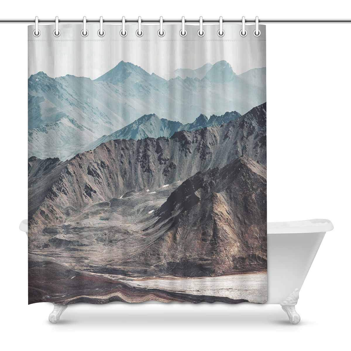 Gckg New York City Freedom Shower Curtain American Flag Grunge Polyester Fabric Shower Curtain Bathroom Sets 60x72 Inches
