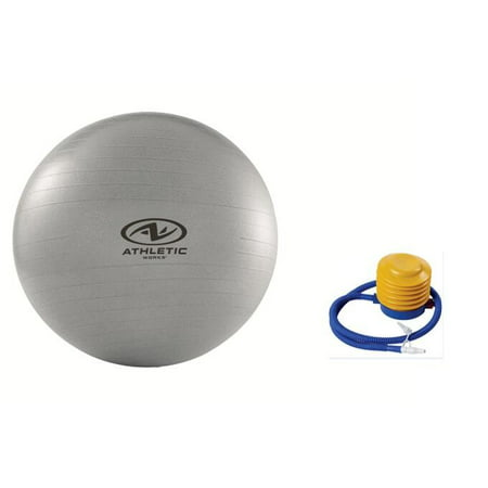 Athletic Works 75cm Anti-burst Exercise Yoga Ball with Pump