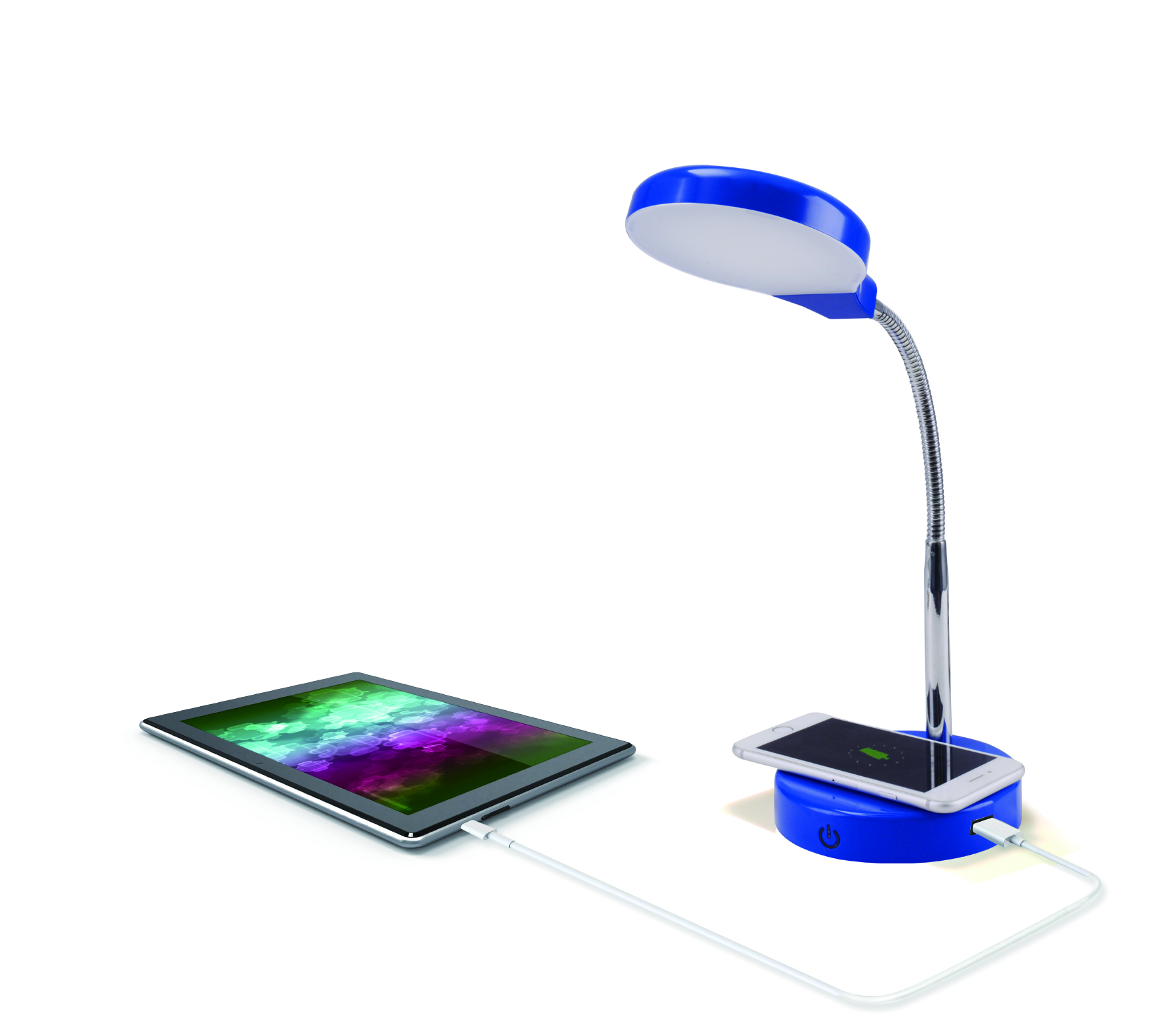 Mainstays LED Wireless Charging Lamp with USB Port Charges Phone Wirelessly by Zhejiang yankon group co.,ltd
