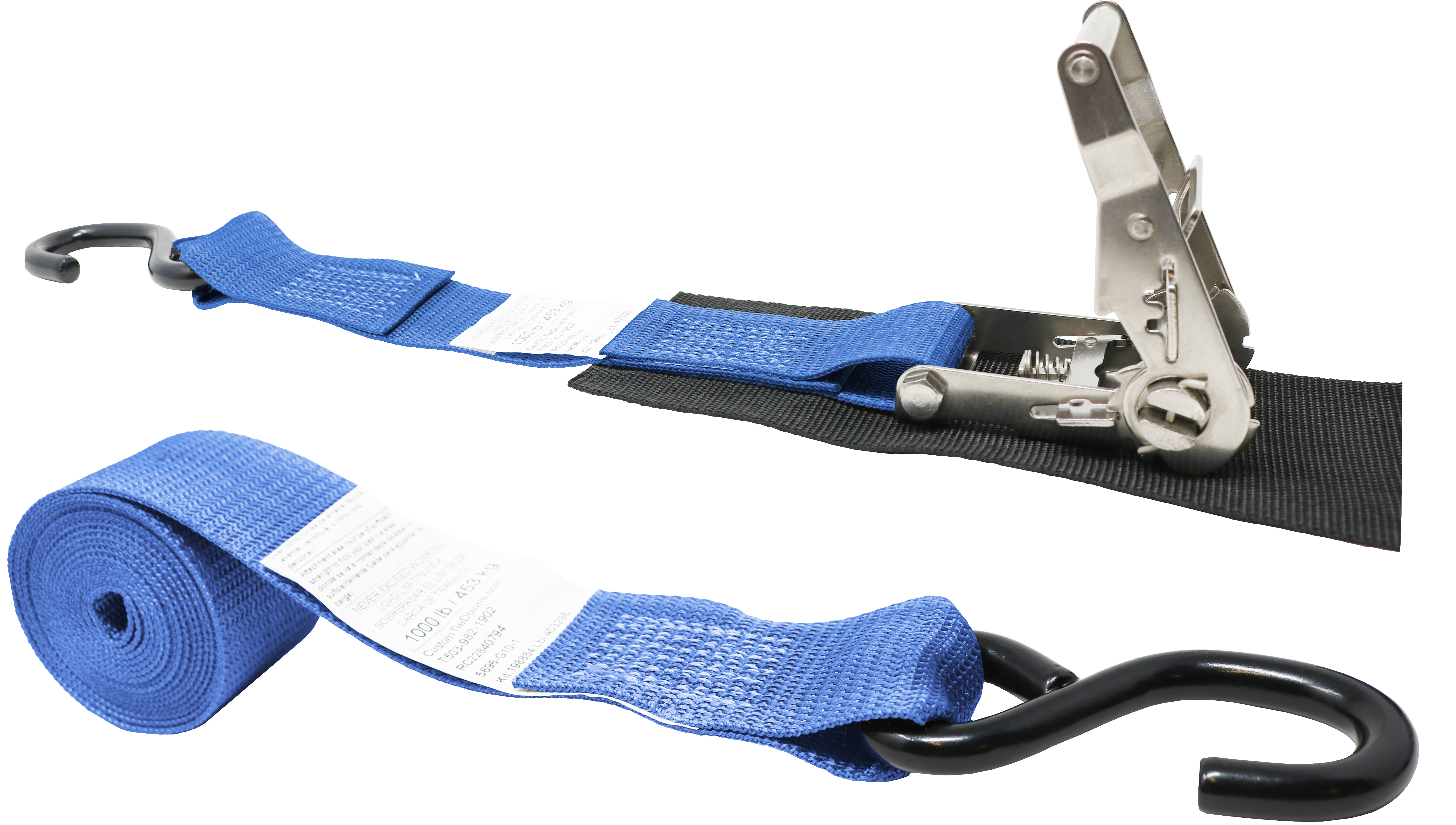 2 Inch Endless Loop Ratchet Strap Stainless Ratchet with Short Wide Handle No Hooks Polyester Tie-Down Webbing. Total Strap Length 10 Ft Endless Loop Protective Pad Under Buckle