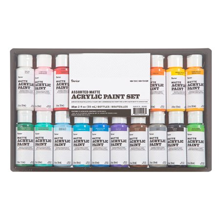 Acrylic Paint Varnish - Acrylic Paint Set: Matte, 2 ounces, 16 pack