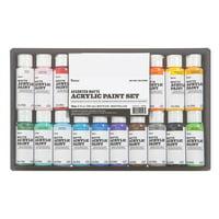 Darice Assorted Acrylic Matte Paint Set, 16 pack