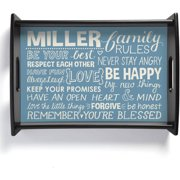 Personalized Family Rules Serving Tray, Blue