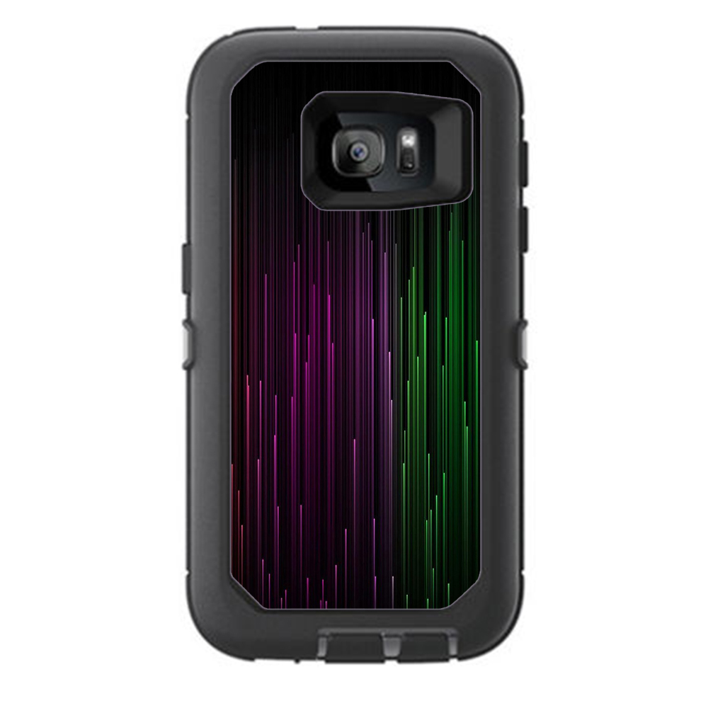 Skins Decals For Otterbox Defender Samsung Galaxy S7 Case / Red Green Blue Tracers