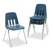"Virco 9000 Series Classroom Chair, 18"" Seat Height, Chrome Frame, 4-Pack"