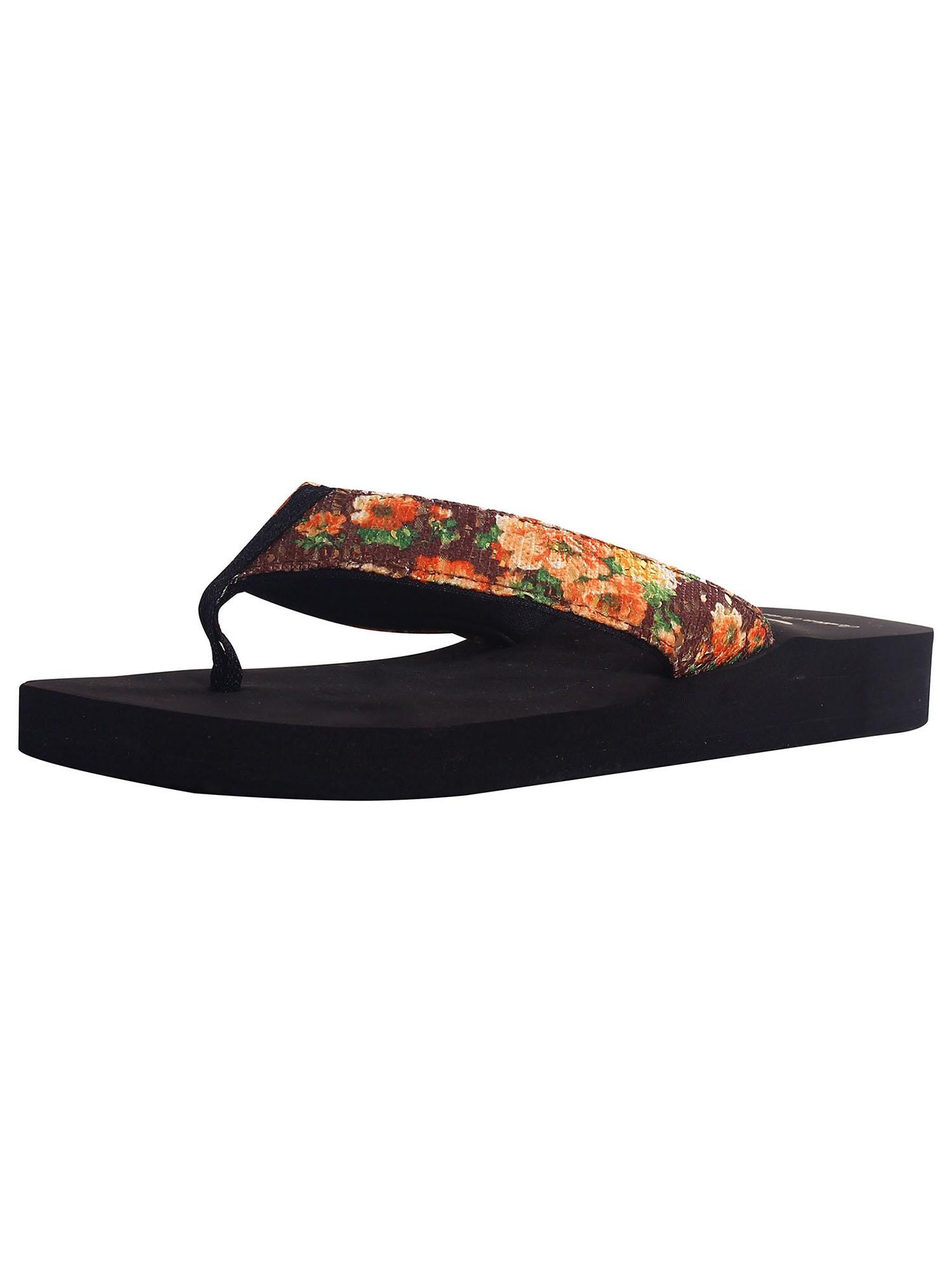 Women's Lightweight Boho Beach Design Comfort Flip Flop Sandals, 2220W_Brown, 7