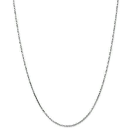14K White Gold 1.9mm Round Diamond Cut Wheat Chain 18 Inch - image 5 de 5