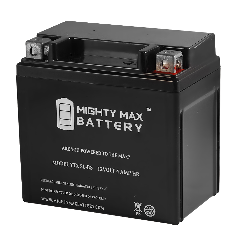 YTX5L-BS Replacement for Adventure Po 12V4AH Motorcycle Battery 12VX5L-B