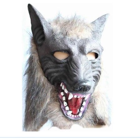 Funny Halloween Half Masks (Toys Halloween Funny Mask,Super Adorable Wolf Head Mask Latex Animal CostumeHalloween Party Costume Decorations)