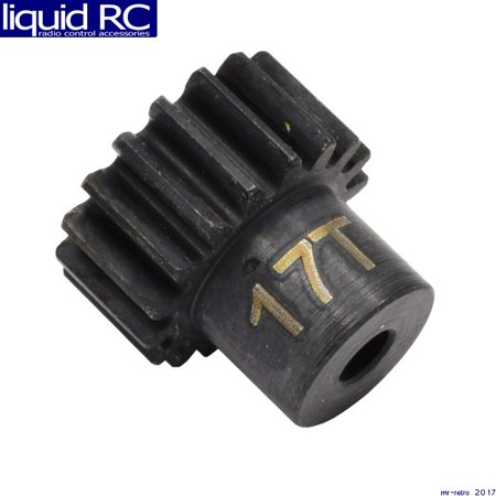 Hot Racing CSG1217 17t 32p Hardened Steel Pinion Gear 1/8 Bore 17t Steel Pinion Gear
