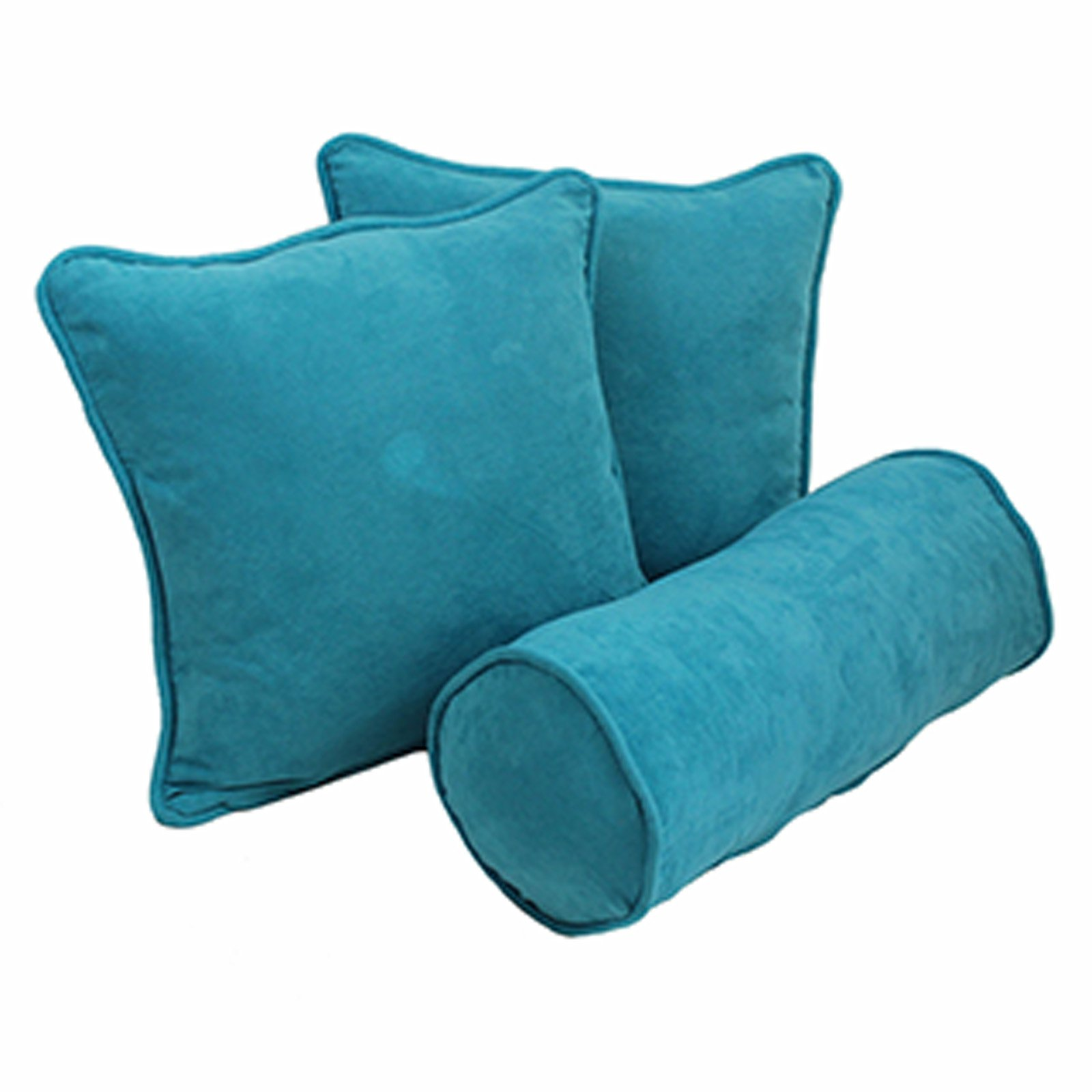 Blazing Needles 3 Piece Solid Twill Decorative Pillow Set