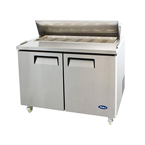 Atosa USA MSF8306 Stainless Steel Mega Top Sandwich/Salad Prep Table 48-Inch Two Door Refrigerator