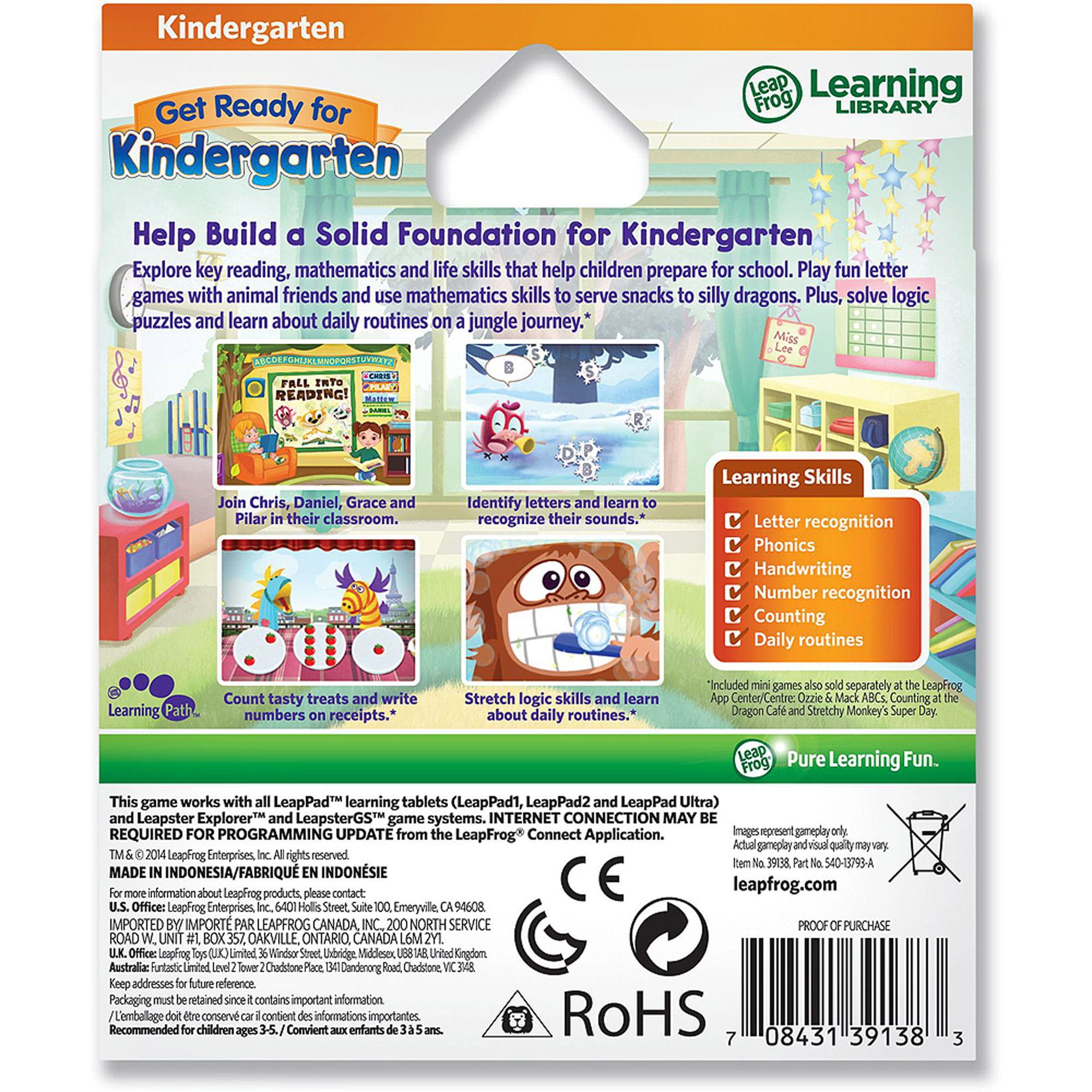 LeapFrog Enterprises Get Ready Kindergarten Game Pk Walmart
