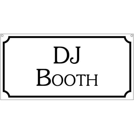 DJ Booth- 6x12 Aluminum Retro Dance Bar Game room sign