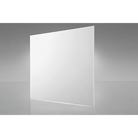 2 pack- WHITE TRANSPARENT ACRYLIC PLEXIGLASS SHEET 1/8