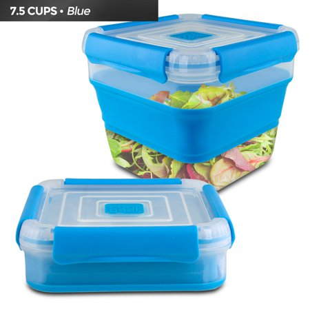 Cool Gear Expandable Air Tight Food Storage Lunch Box 7.5 CUP BPA-free Blue