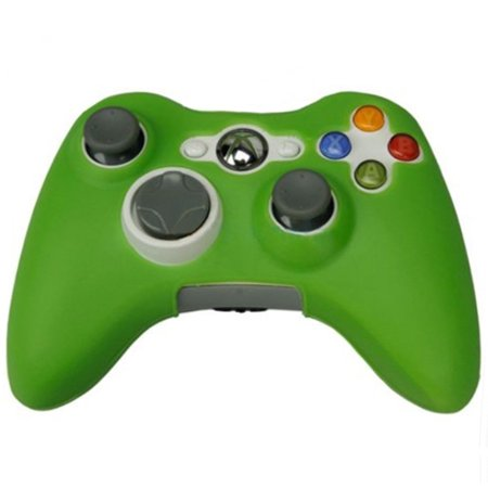 HDE Xbox 360 Silicone Wireless Controller Skin Protective Rubber Case Cover for Microsoft Xbox 360 Game Pad (Green) (Control Freaks Xbox 360 Green)