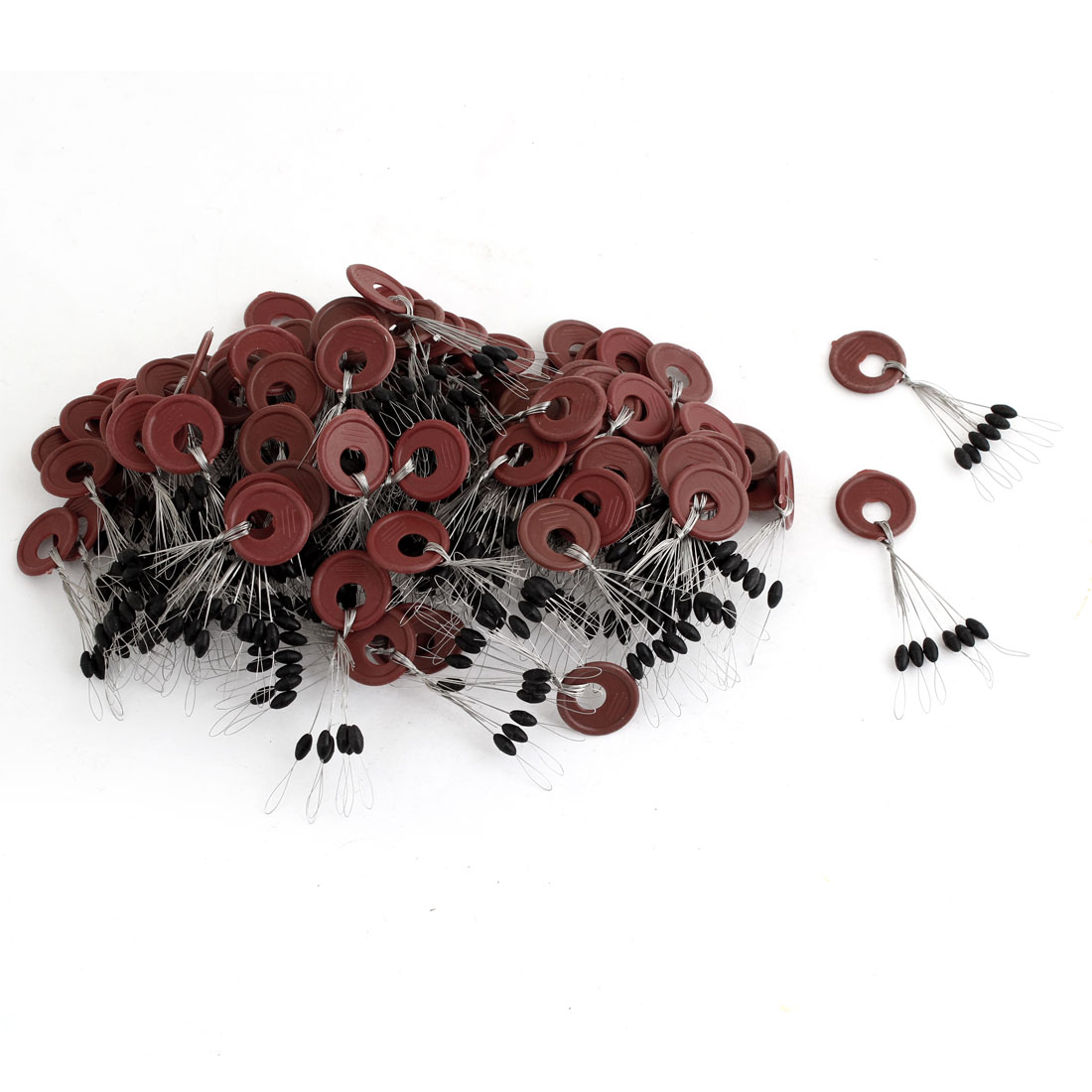 Unique Bargains 102 Pcs Beads Fishing Floaters Bobbers 5mmx2mm by