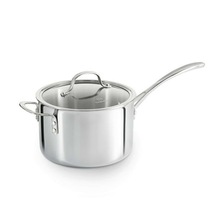 Calphalon Tri-Ply Stainless Steel 4.5-Quart Saucepan with (Calphalon Stainless Steel Pasta Insert)