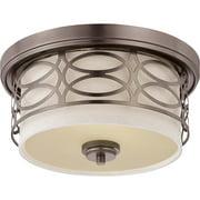 Nuvo Harlow 60/4727 2-Light Flush Dome - 13.375W in. - Hazel Bronze