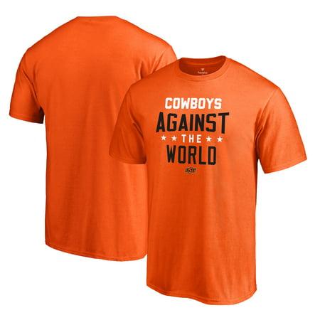 Oklahoma State Cowboys Fanatics Branded Against The World T-Shirt - Orange