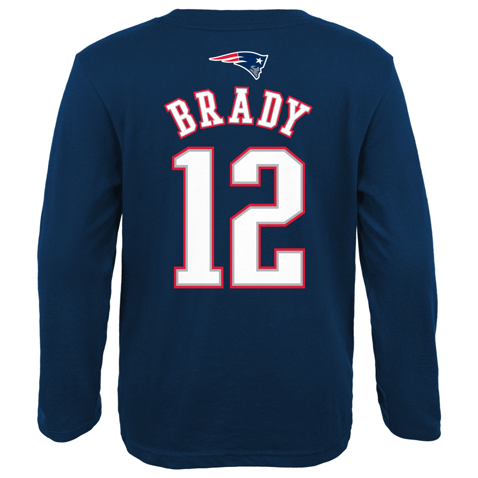 new concept 9687b ad8e6 Tom Brady New England Patriots Youth Primary Gear Name & Number Long Sleeve  T-Shirt - Navy Blue