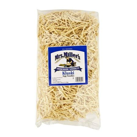 Kluski Noodles (Mrs. Miller's Old Fashioned Homestyle Kluski Noodles Large 2.5 lb. Bag (1)