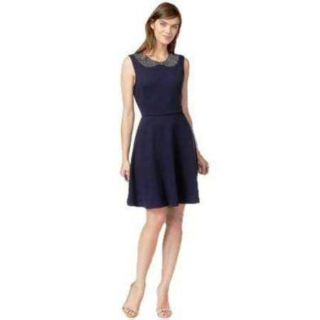 Embellished Dresses Clearance (Maison Jules Women's Embellished Neck Dress Size)