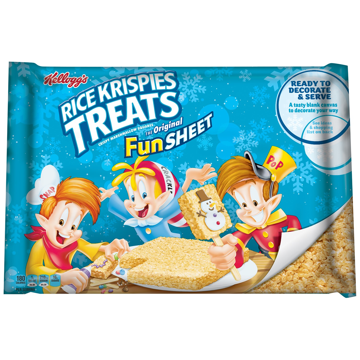 Kellogg's Rice Krispies Treats Fun Sheet, 32 Oz