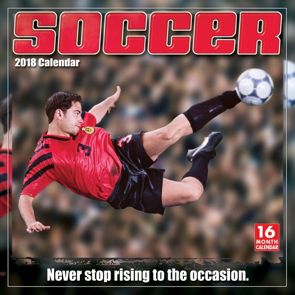 Soccer Wall Calendar, 2018 Soccer, Lacrosse & AFL by Sellers Publishing