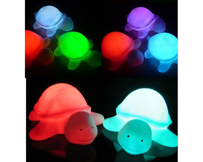 Color Changing LED Turtle Night Light 2-Pack Assorted by Unbranded