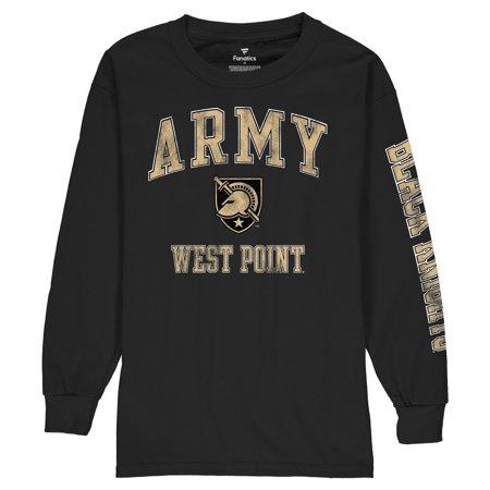 Army Black Knights Logo (Army Black Knights Fanatics Branded Youth Distressed Arch Over Logo Long Sleeve T-Shirt - Black)