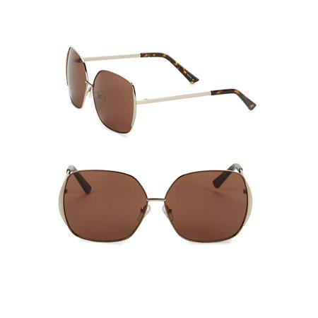 63.5MM Angular Square Sunglasses
