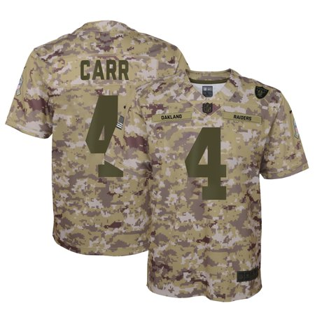 new product 8c9f3 e3a9a Derek Carr Oakland Raiders Nike Youth Salute to Service Game ...