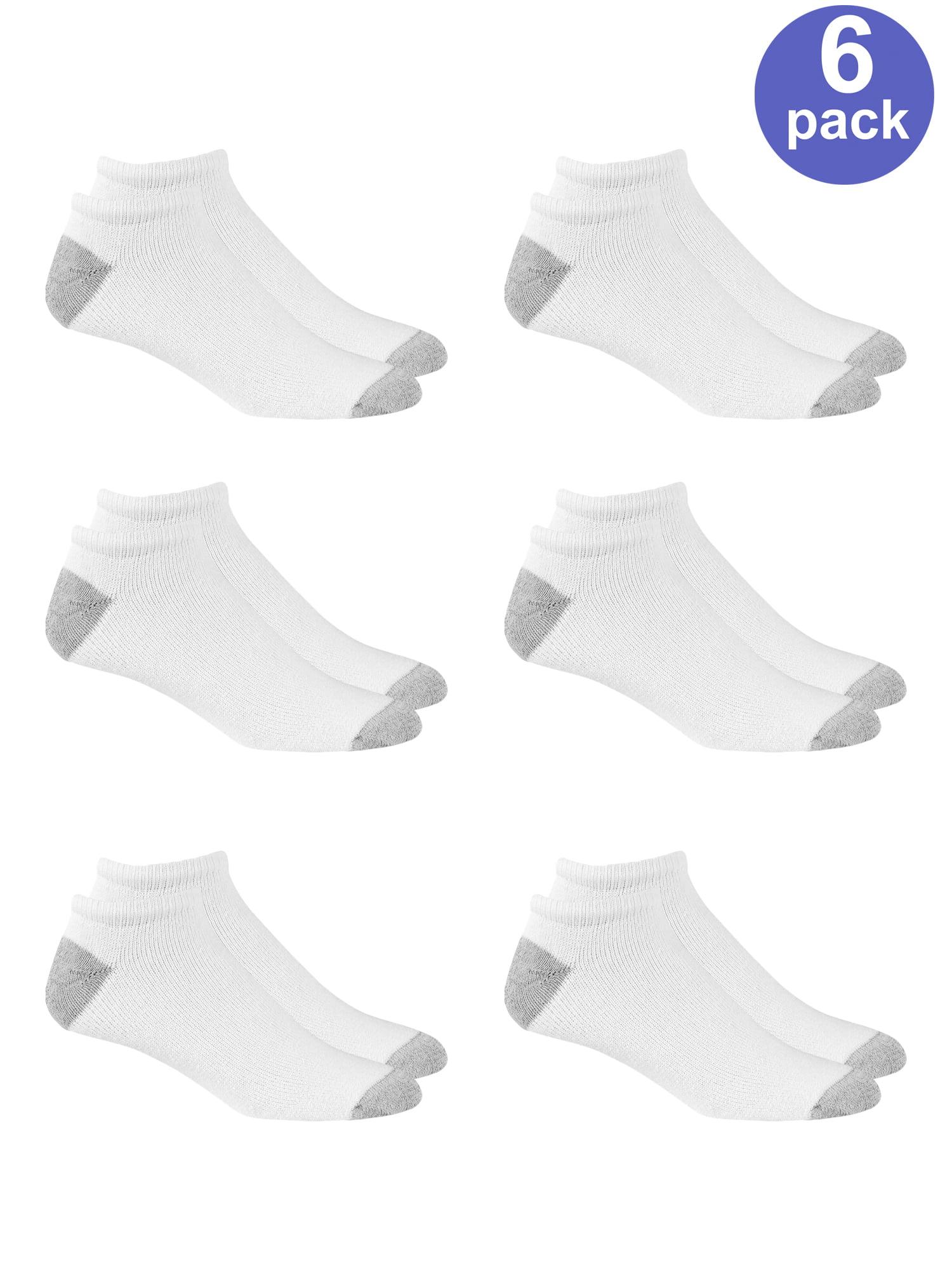 Kold Feet Mens Athletic 6-Pack Stripe Cushion Crew Hiking Performance Running Socks