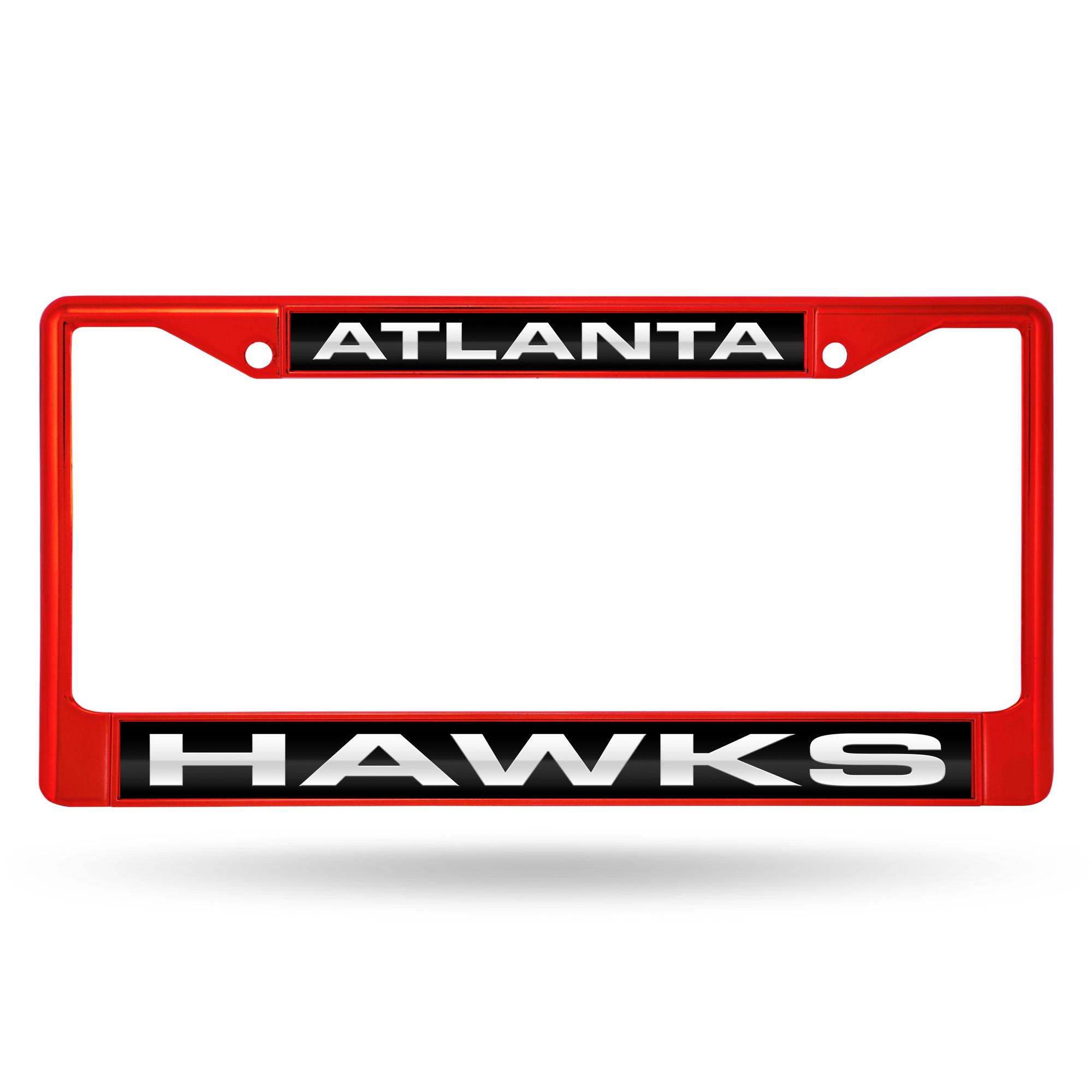 Atlanta Hawks Laser Chrome Licence Plate Frame - No Size