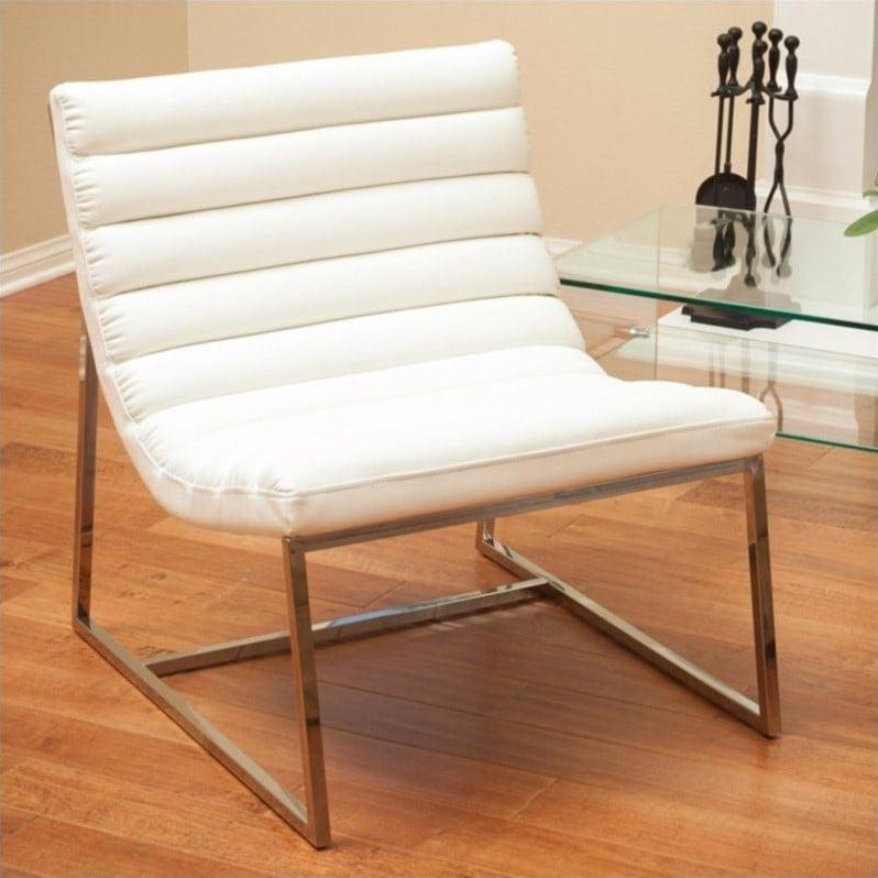 Trent Home Geneva Chair in White